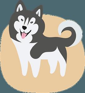 Husky кліпарт