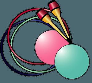 Rhythmic gymnastics clipart