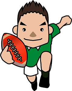 Rugby sports clipart