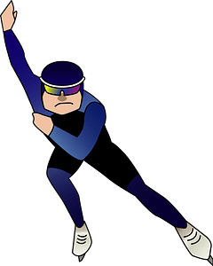 Speed skating sports clipart