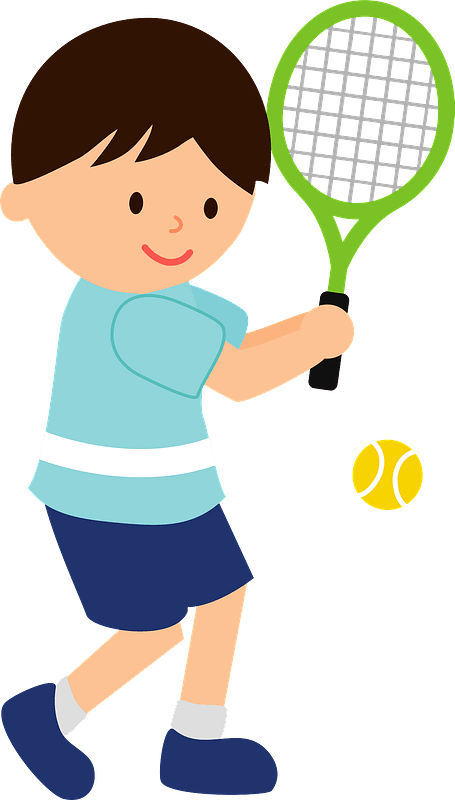 Boy Is Playing Tennis Clipart Free Download Transparent Png Creazilla