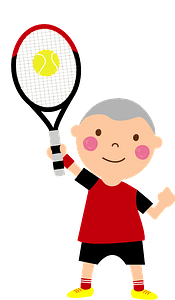 Boy is Playing Tennis clipart