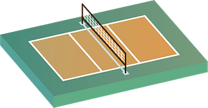 Volleyball court sports clipart