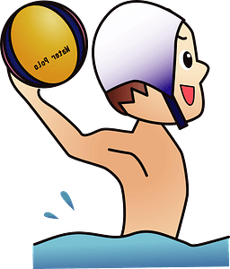 Water polo player clipart