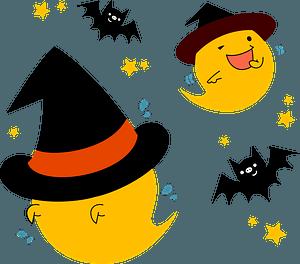 Ghost bat dance clipart
