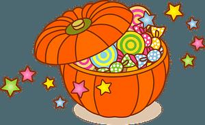 Halloween bucket of candy clipart