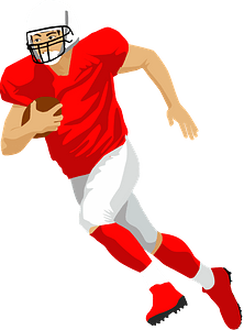 American football player clipart