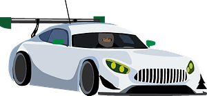Car racing clipart