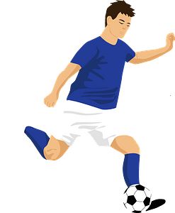 Soccer (football) player clipart
