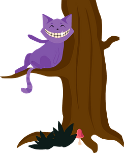 Cheshire cat clipart