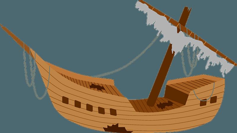 Wrecked ship clipart
