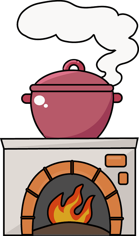 Pot on the stove clipart