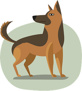 German shepherd кліпарт