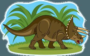 Triceratopsのクリップアート