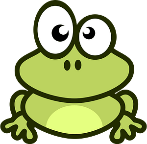 Cartoon frog clipart