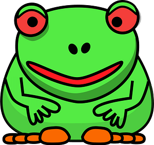 Red-eyed frog clipart
