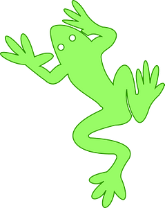 Simple frog clipart