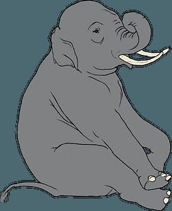 Sitting elephant clipart