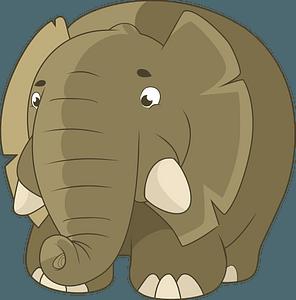 Fat elephant clipart