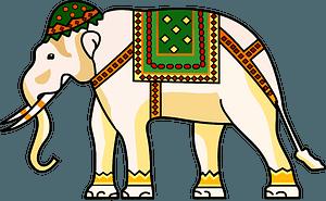 Decorated ornamental elephant 클립 아트