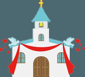 Church wedding clipart