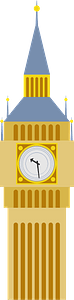 Big Ben Clock tower clipart
