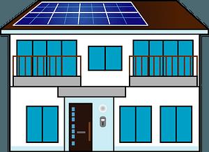 Solar panel house clipart