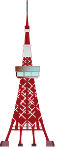 Tokyo tower clipart