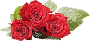 Red roses clipart