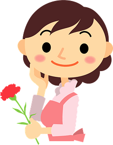 Carnation for mothers day clipart