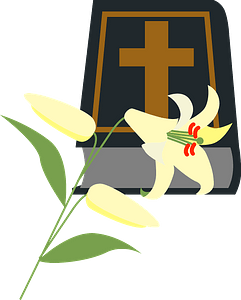 Bible and lily clipart