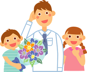 Father's day gift bouquet clipart