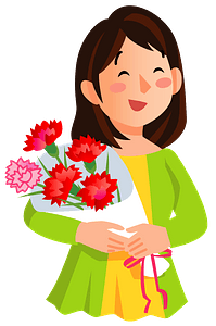 Mother's Day gift of carnation bouquet clipart