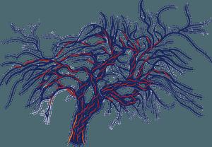 Red tree after Piet Mondriaan clipart