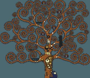 Tree of life after Gustav Klimt clipart