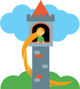 Rapunzel tower clipart