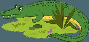 Alligatorのクリップアート