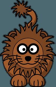 Cartoon lion clipart