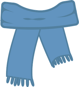 Blue scarf clipart