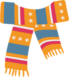 Colored scarf clipart