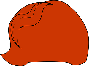 Red wig clipart