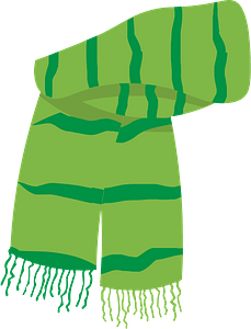 Green christmas scarf clipart