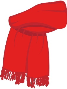 Red christmas scarf clipart