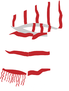 Red white christmas scarf clipart