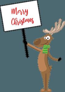 Deer wishing merry christmasのクリップアート