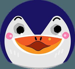 Surprised penguin head clipart