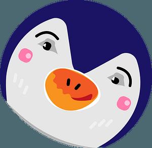 Penguin headのクリップアート