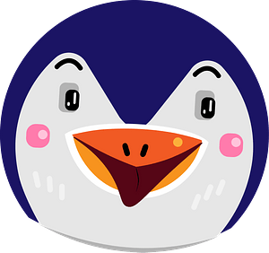 Penguin head clipart