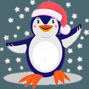 Christmas penguinのクリップアート