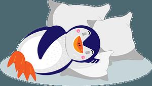 Penguin sleeping clipart